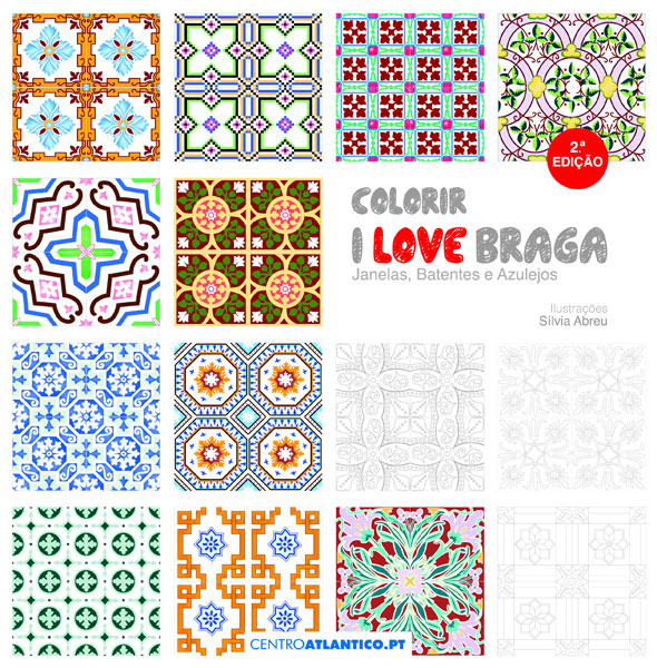 Colorir I Love Braga Janelas Batentes E Azulejos Centro Atlantico